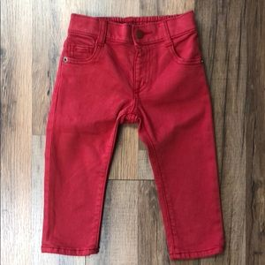 Gymboree Baby Pull On Skinny Red Jeans NEW!